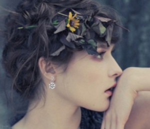 MissChopin's Double Sparkle Stud Earrings completes Josephine's elegant and chic look