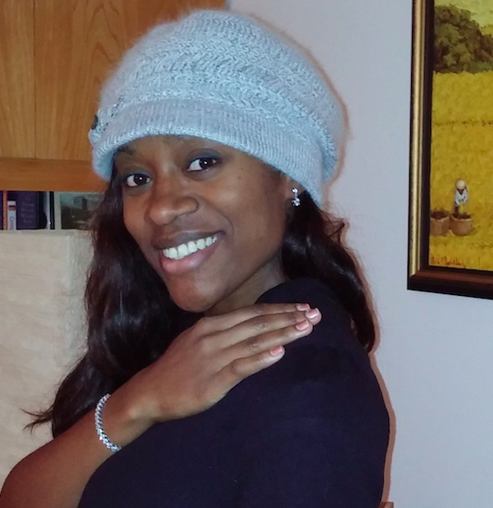 Our customer sharing a picture of her wearing our Double Sparkle Stud Earrings and Weekend in the Hamptons bracelet