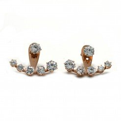 Crescent crystal ear jackets 5