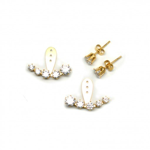Crescent crystal ear jackets 4