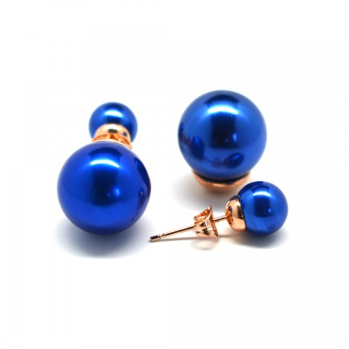 blue double pearl earrings 1