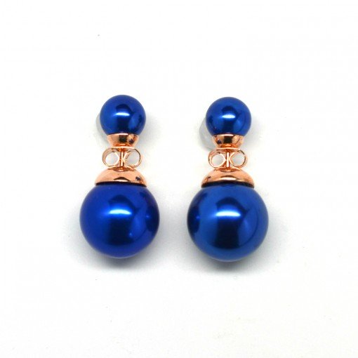 blue double pearl earrings 3