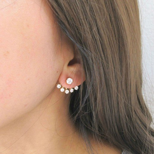 five crystals ear jackets 7