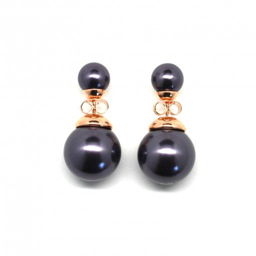 purple double pearl earrings 2