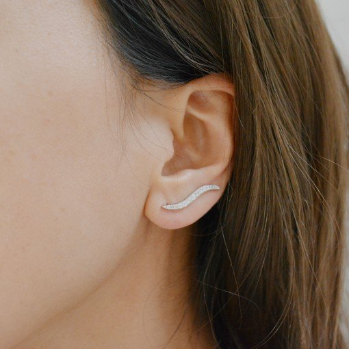 wave pave cz ear crawlers 5