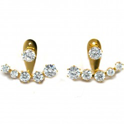 Crescent crystal ear jackets 2