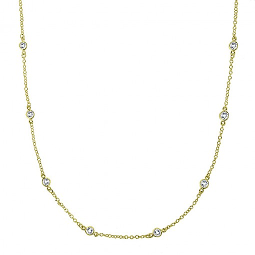 CZ by the yard necklace 3