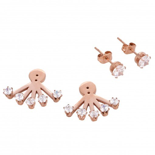 stainless steel 5 rhinestone ear jackets 6