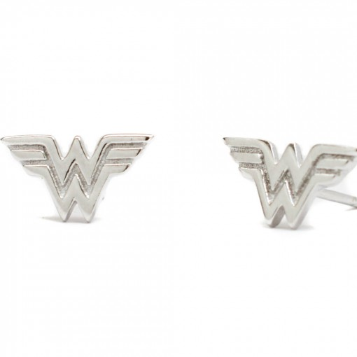 Wonder Woman Earrings Rhodium 1