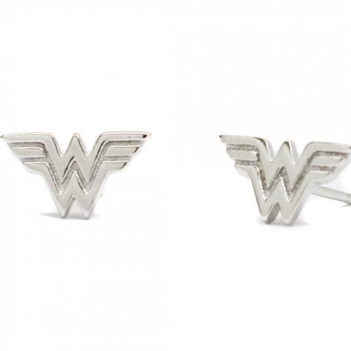 Wonder Woman Earrings Rhodium 1