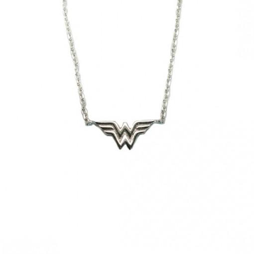 Wonder Woman Necklace Rhodium 1