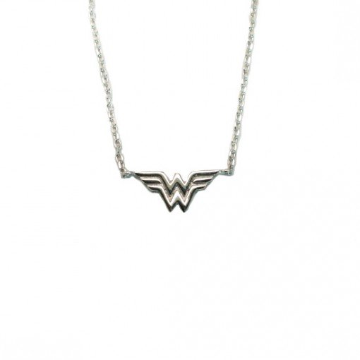 Wonder Woman Necklace Rhodium 1