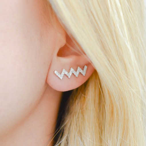 Zig Zag Ear Climbers model