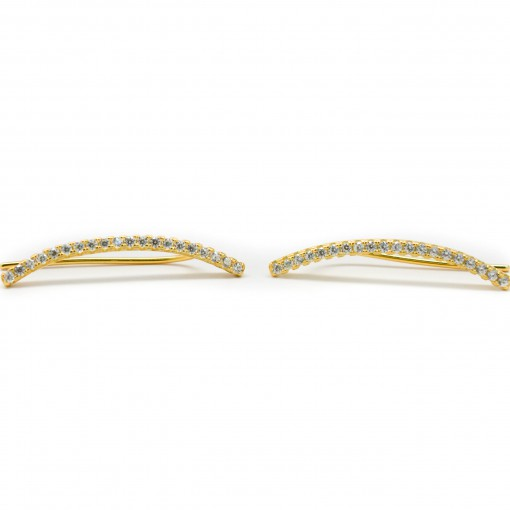 Skinny Bar Ear Climbers Gold 2