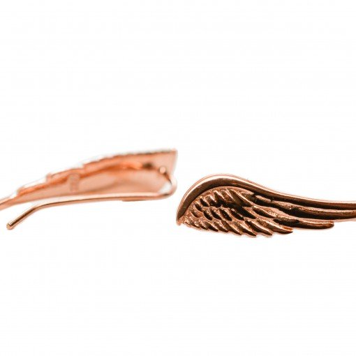 sterling silver angel wing crawlers (rose gold) 2