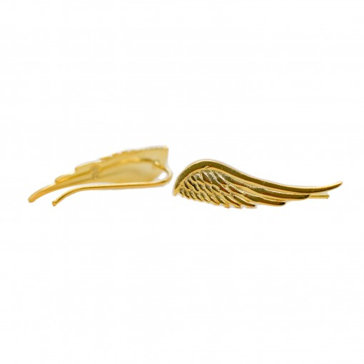 sterling silver angel wing crawlers (gold) 2