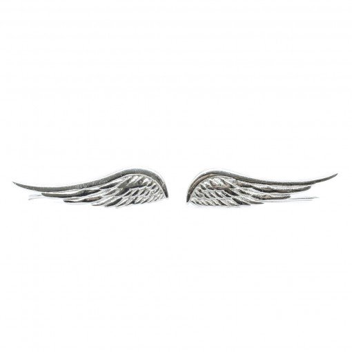 sterling silver angel wing crawlers (silver) 1
