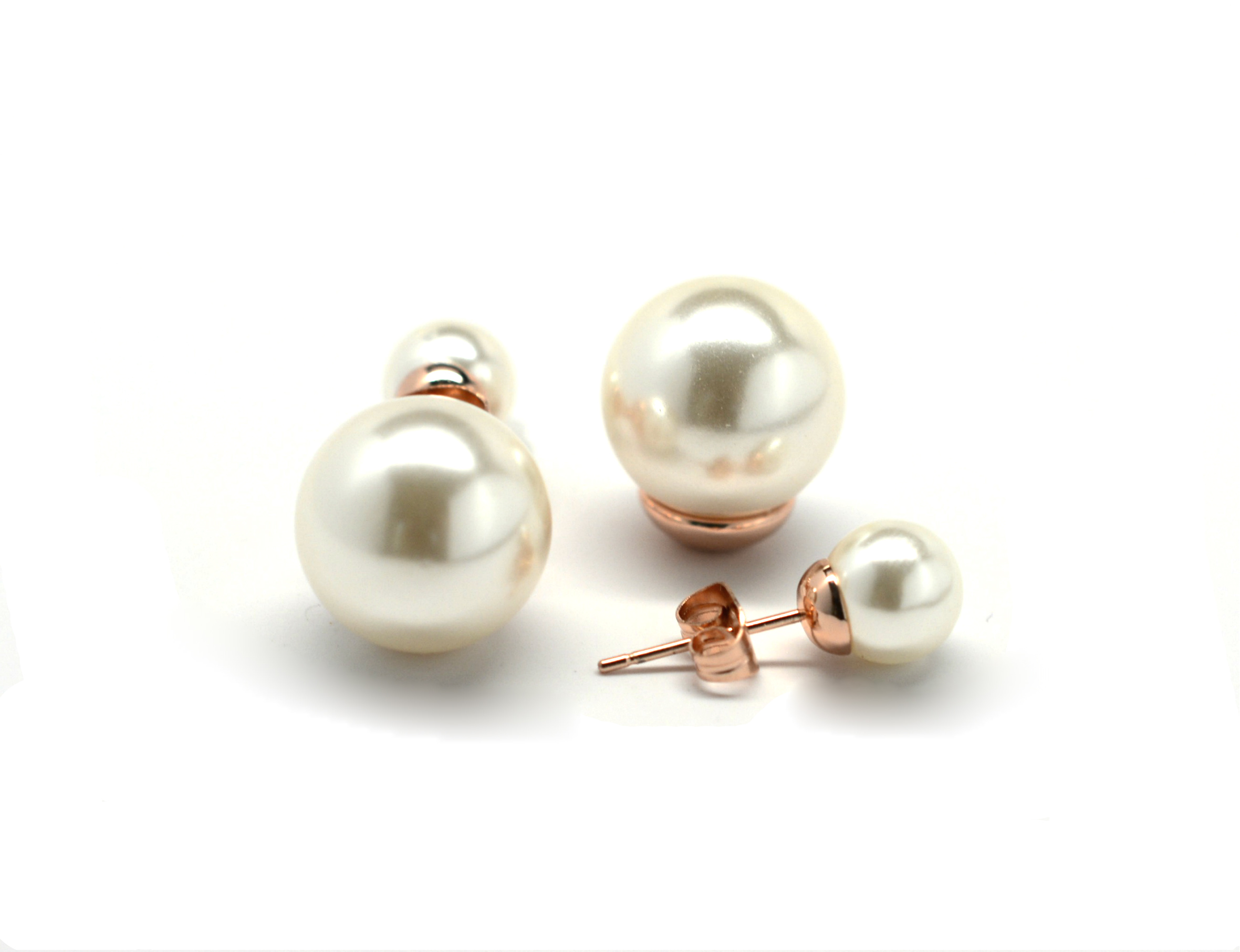 pearls stud product to earrings from in gold cream pearl